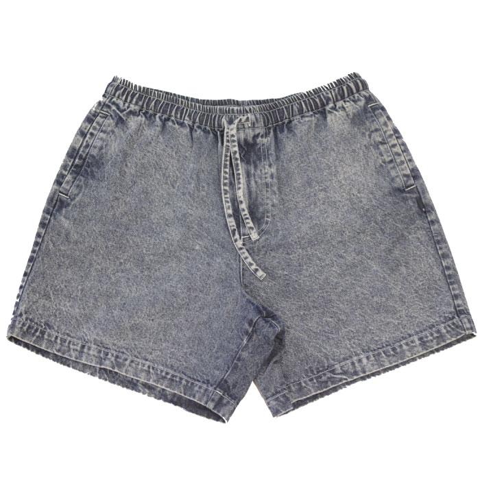 画像1: Chemical Washed Color Denim Shorts スケミカル ウォッシュ カラー デニム ショーツ Indigo (1)