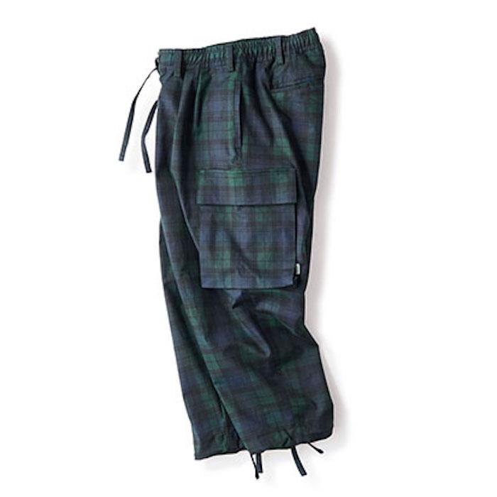 画像1: Comfy Cargo Pants カーゴ パンツ Check Blackwatch ブラックウォッチ イージー パンツ 9部丈 (1)