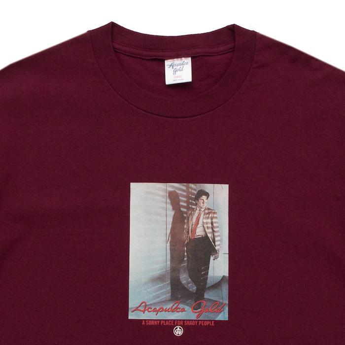 画像1: Acapulco Gold (アカプルコゴールド) S/S just A Jigolo Tee Wine Red Maroon 半袖 Tシャツ (1)