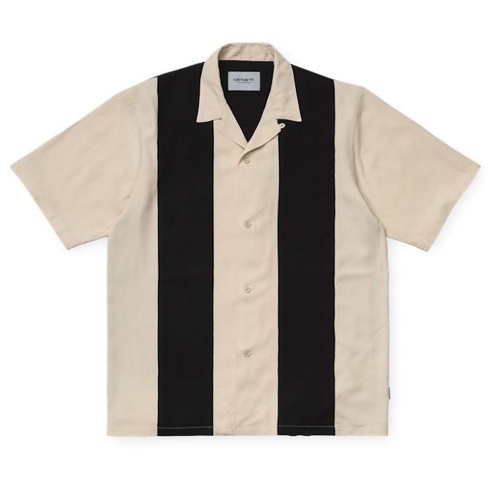 画像1: Carhartt WIP (カーハート ワークインプログレス) S/S Lane Shirt Wall Black 半袖 ワーク シャツ  (1)