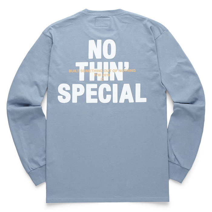画像1: Nothin' Special(ナッシン スペシャル) Logo L/S Long Sleeve Tee Light Blue 長袖 Tシャツ (1)