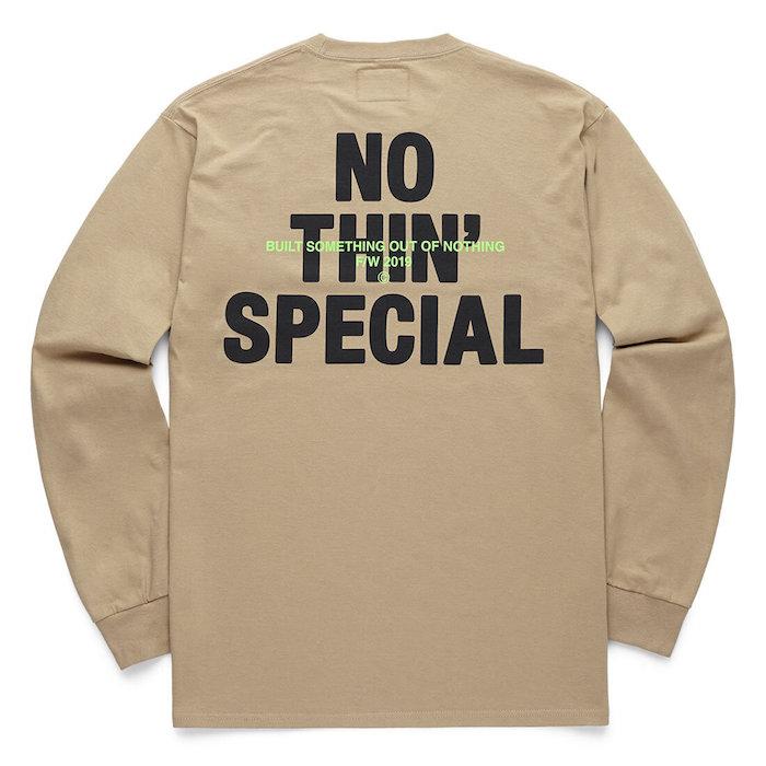画像1: Logo L/S Long Sleeve Tee Sand 長袖 Tシャツ Biggie (1)