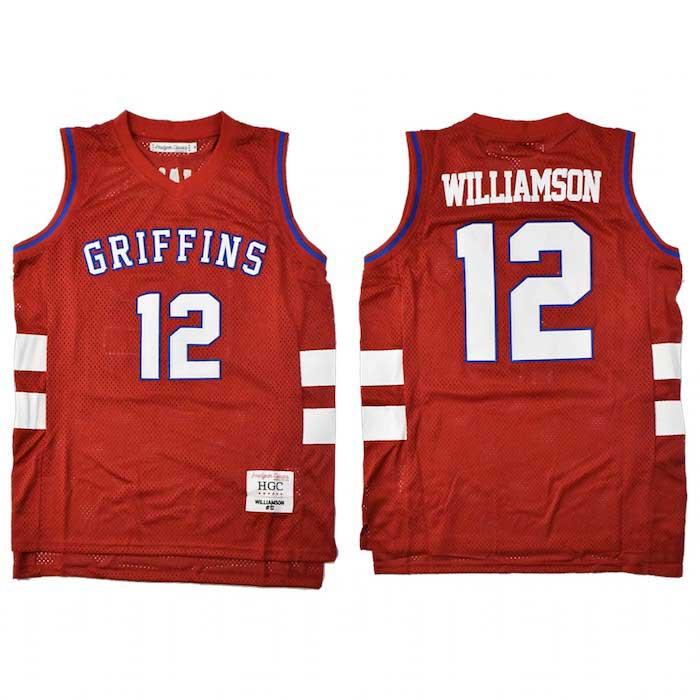 画像1: Headgear Classics(ヘッドギア クラシックス) Zion Williamson 12 Spartanburg Day Basketball Jersey ザイオン ウィリアムソン ゲーム シャツ 復刻 (1)