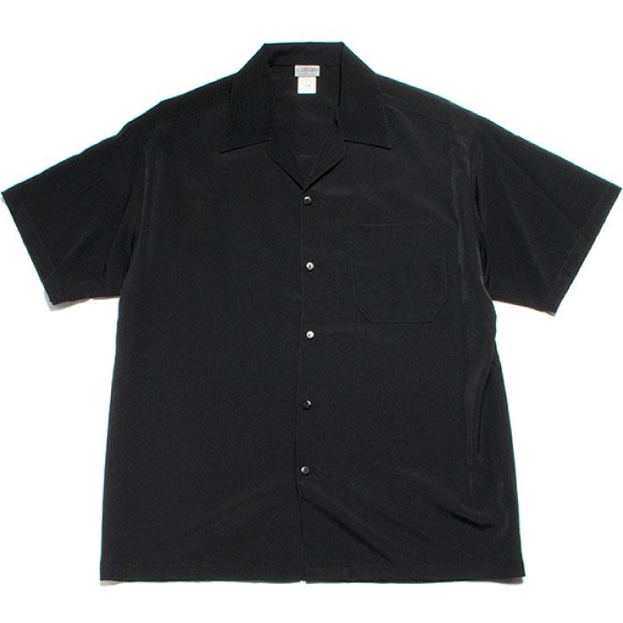画像1: Open Collar S/S Solid Shirt 半袖 オープンカラー シャツ  (1)