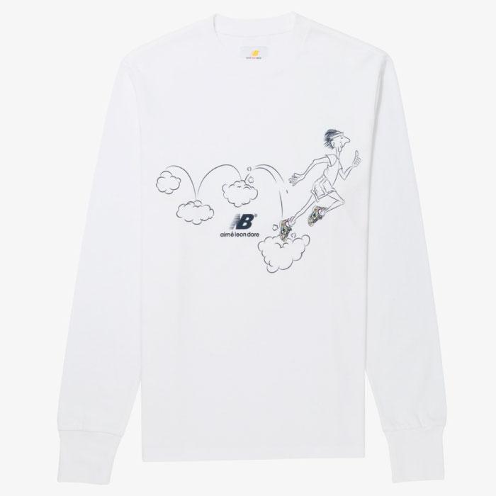 画像1: × New Balance ALD Graphic Runners L/S Tee グラフィック ランナーズ ニューバランス 827 コラボ 長袖 Tシャツ (1)