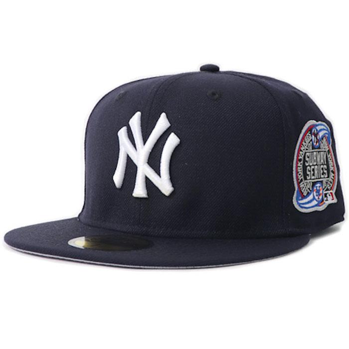 画像1: 59Fifty NewYork Yankees VS Mets Subway Series 2000 ニューヨーク ヤンキース メッツ Authentic Collection  サブウェイ シリーズ キャップ MLB 公式 Official (1)