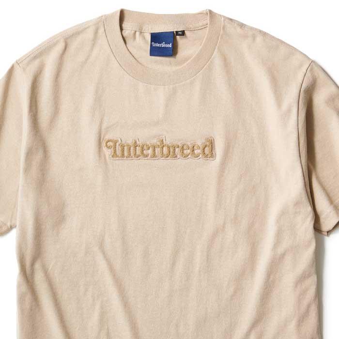 画像1: Pile Patched Logo S/S Tee Sand Beige 半袖 Tシャツ  (1)