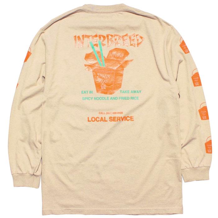 画像1: Local Service LS Tee 長袖 Tシャツ Sand Beige (1)