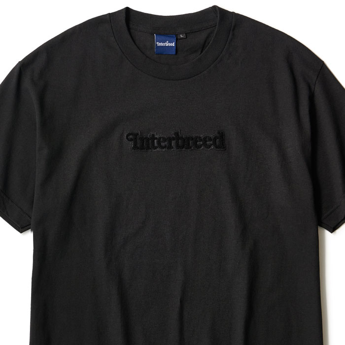 画像1: Pile Patched Logo S/S Tee Black 半袖 Tシャツ  (1)