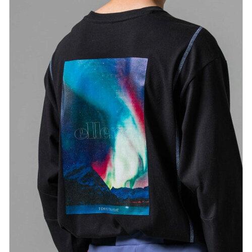 画像1: 【SALE】Graphic L/S Tee Black White フォト ロンT 長袖 Tシャツ (1)