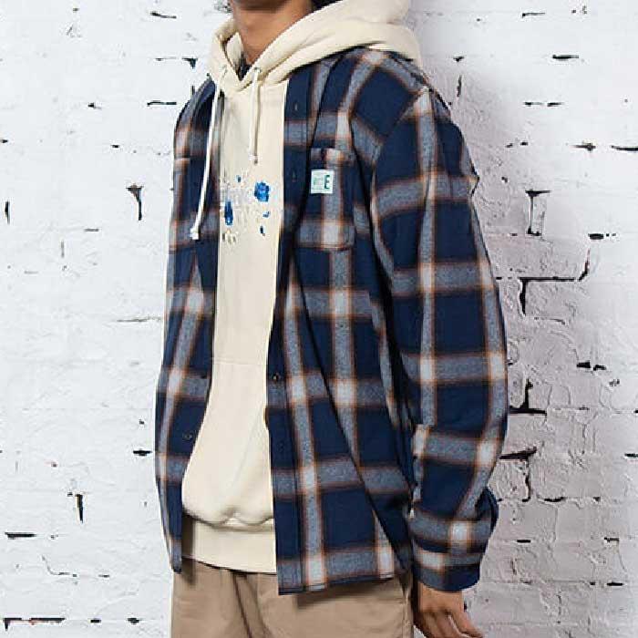 画像1: Workes Ombre L/S Flannel Shirt 長袖 フランネル シャツ by Lafayette ラファイエット  (1)