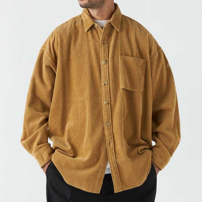 画像1: 【SALE】Biggieroy L/S Corduroy Shirt 長袖 コーデュロイ シャツ  (1)