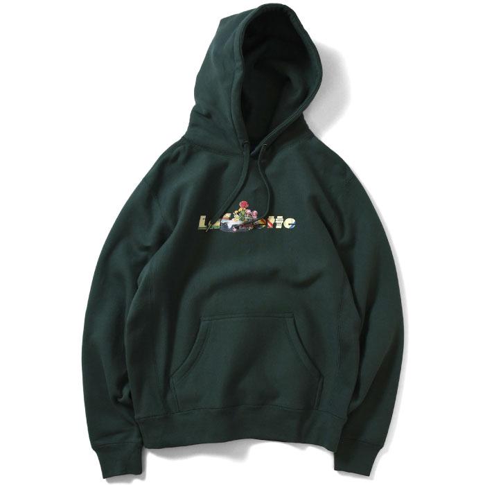 画像1: × Killiman Jah Low Works キリマンジャロ ワークス Vives And Stuff Hooded Sweatshirt プルオーバー パーカー Green グリーン by Lafayette ラファイエット  (1)
