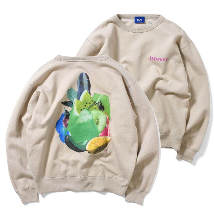 画像1: × Takayuki Yamada Fruit Crewneck Sweat Shirt クルー ネック スウェット by Lafayette ラファイエット  (1)