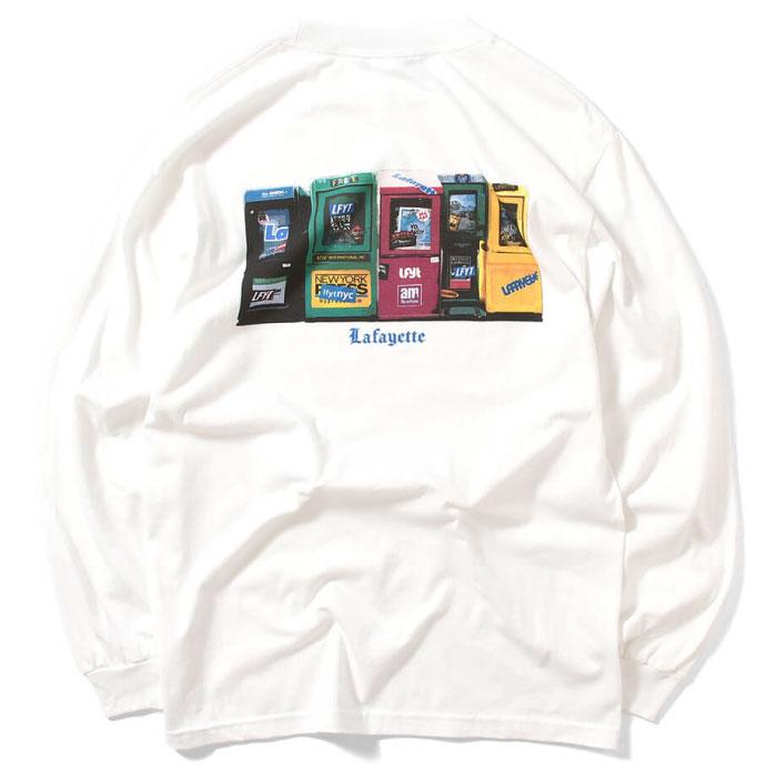 画像1: Free Paoer Box L/S Tee 長袖 Tシャツ 新聞 Times White by Lafayette ラファイエット  (1)