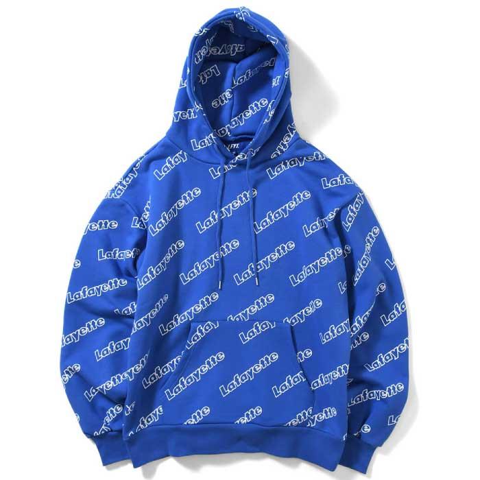 画像1: Outline Logo Pullover Hooded Sweatshirt プルオーバー アウトライン コア ロゴ コットン パーカー by Lafayette ラファイエット  (1)