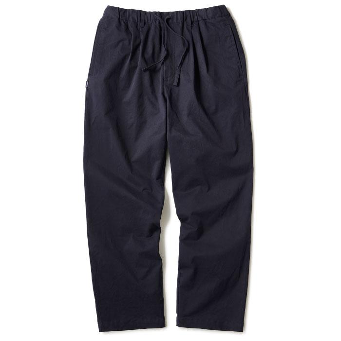 画像1: Relaxed Chino Trouser Pants チノ イージー パンツ タック パンツ Navy Black (1)