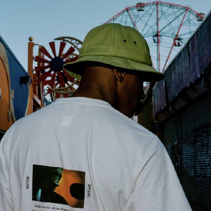 画像1: Organic Cotton Bell Hat Lime Green Metro オーガニック コットン ベル メトロ ハット 帽子 (1)
