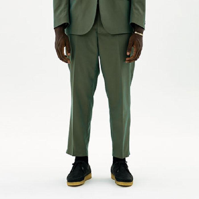 画像1: Classic ailored Pants Khaki テーラード パンツ センタープレス スラックス (1)