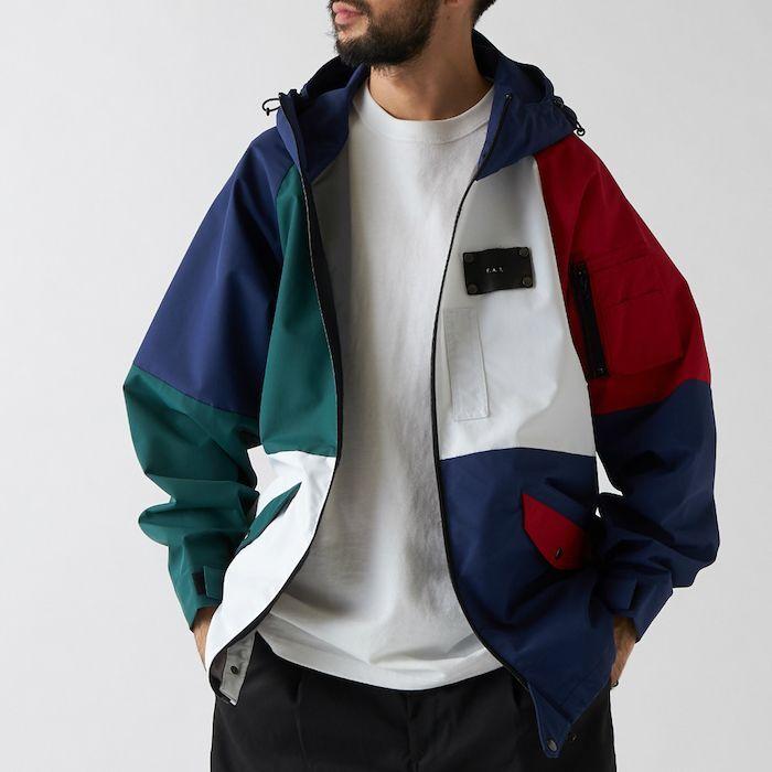 画像1: 【SALE】Exocet Color block Nylon Flight Jacket ミリタリー フライト レザーパッチ ナイロン ジャケット (1)