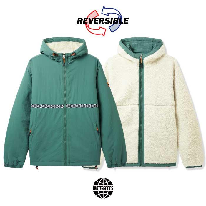 画像1: Base Camp Reversible Sherpa Jacket リバーシブル シェルパ フリース ジャケット Sage Natural Green (1)