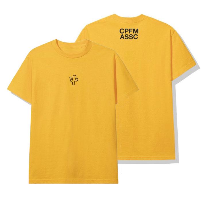 画像1: × CPFM S/S Cactus embroidery Tee Tシャツ 刺繍 Yellow assc (1)