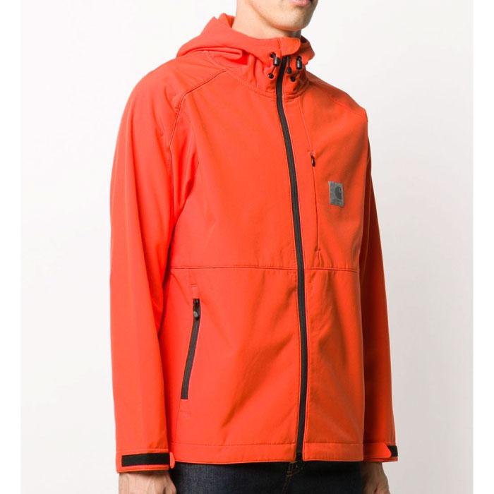 画像1: Soft-shell Jacket Safety Orange フリースボンド Car Lux リフレクティブ ジャケット オレンジ (1)