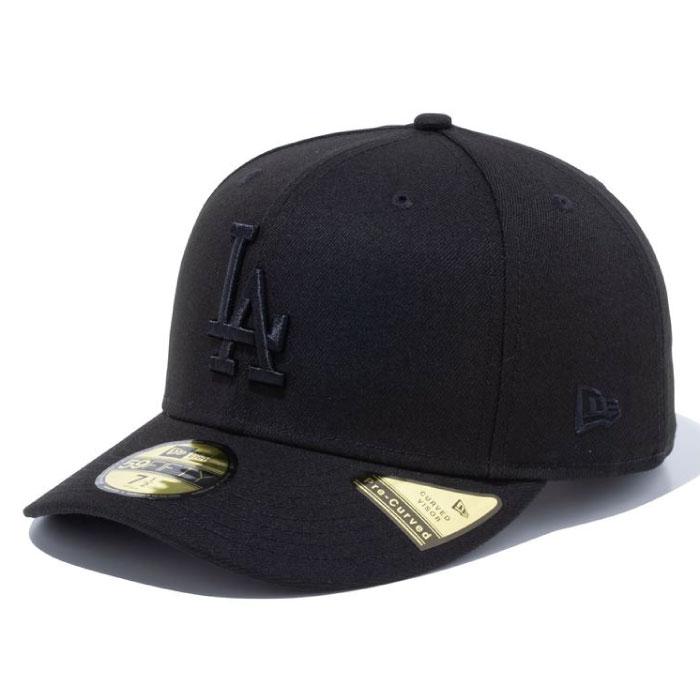 画像1: PC 59Fifty Los Angeles Cap Black Black MLB ロサンゼルス・ドジャース Classic クラシック カラー MLB 公式 Official (1)