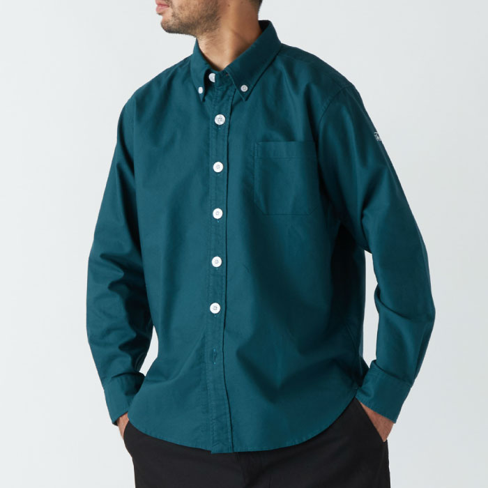 画像1: BD L/S Button Down Oxford Shirts Green Big ボタン ダウン オックスフォード シャツ グリーン (1)