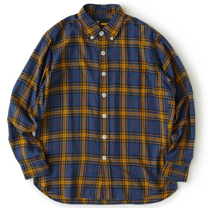 画像1: Chekadee L/S Button Down Oxford Shirts Green Big ボタン ダウン ツイル チェック カジュアル シャツ (1)