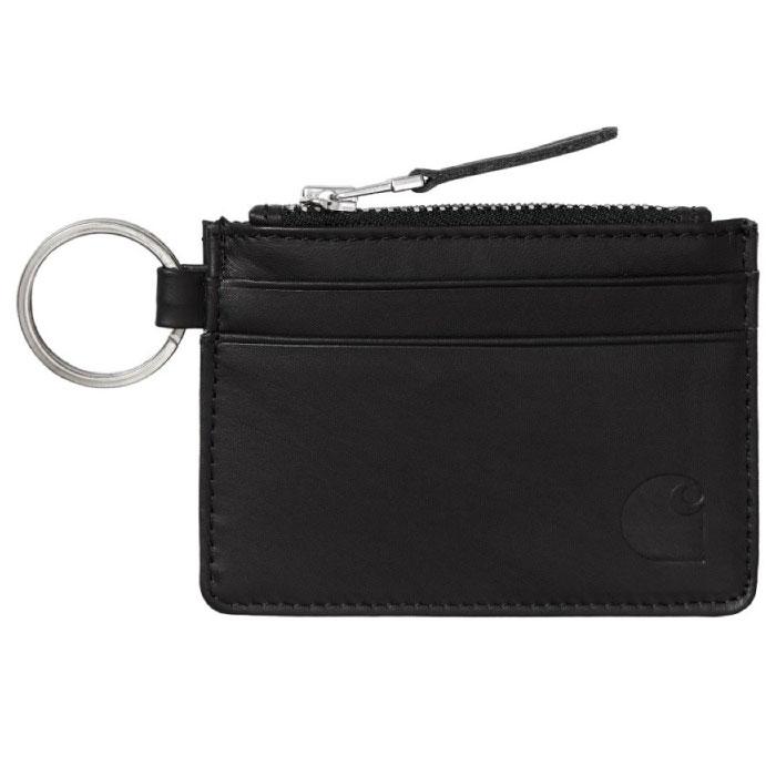 画像1: Leather Wallet With Metal Ring Coin Case Black レザー ウォレット コイン ケース メタル リング (1)