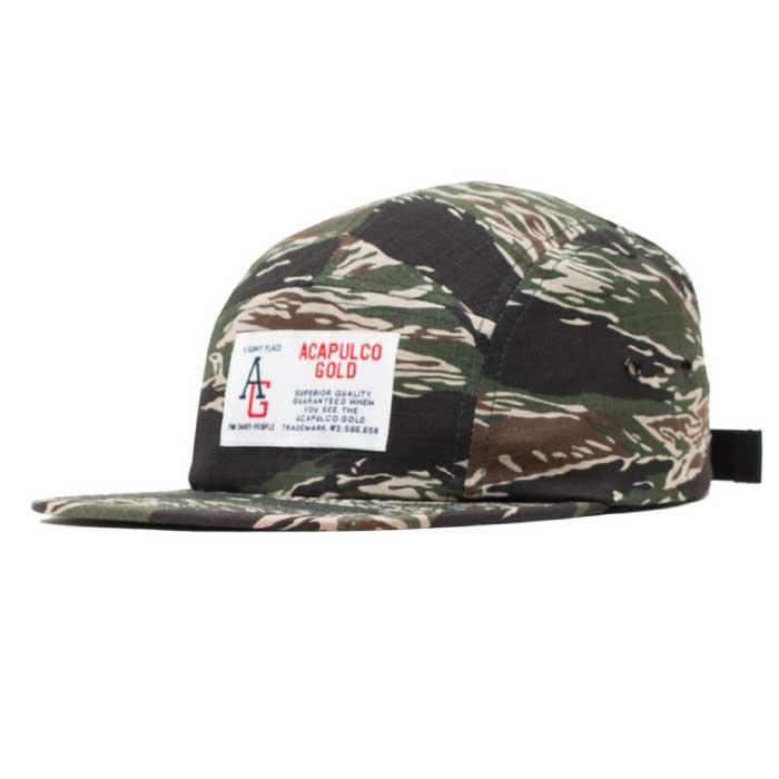 画像1: AG Camp Cap キャンプ ロゴ キャップ ジェット 帽子 Tiger Camo タイガー カモ 迷彩 Navy ネイビー Black ブラック (1)