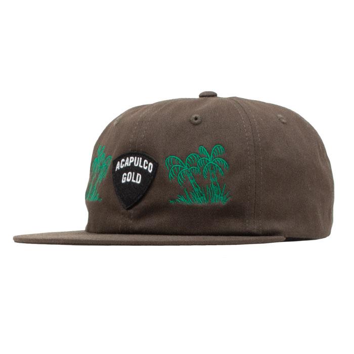 画像1: Island Army 6 Panel Cap アイランド アーミー パネル ロゴ キャップ 帽子 Olive Green オリーブ グリーン Black ブラック (1)