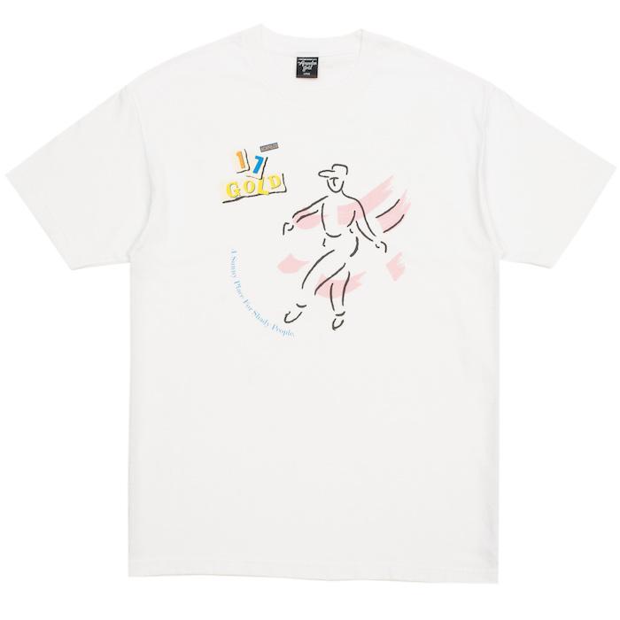 画像1: Dance S/S Tee 半袖 ダンス ディスコ 12inch レコード リイシュー レーベル Tシャツ White ホワイト (1)