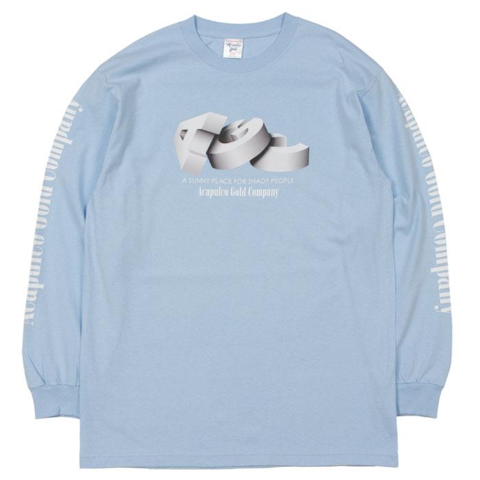 画像1: AGC L/S Tee 長袖 ブルックリン ロングスリーブ Tシャツ Sax Blue サックス ブルー (1)