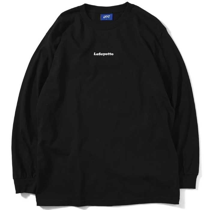 画像1: Small Logo L/S Tee スモール ロゴ 長袖 Tシャツ Black ブラック by Lafayette ラファイエット  (1)