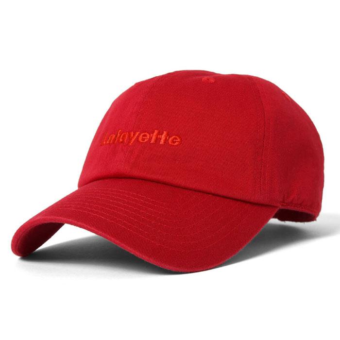 画像1: Logo Dad Hat ロゴ ダッド ハット Ball Cap ボール キャップ 帽子 Red Navy White レッド ネイビー ホワイト by Lafayette ラファイエット  (1)