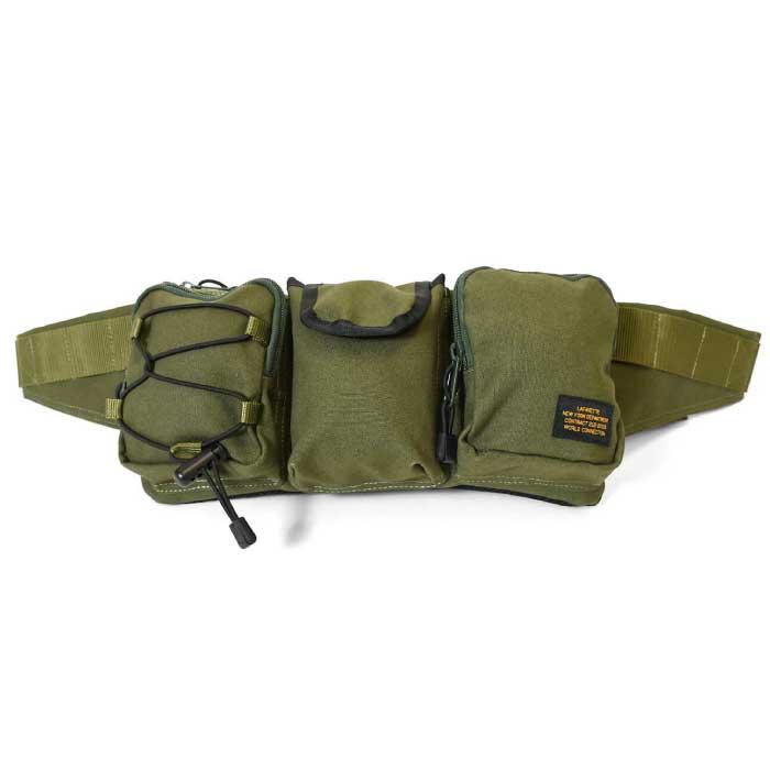 画像1: Military Waist Bag ウエスト バッグ Military Green Black ミリタリー グリーン ブラック by Lafayette ラファイエット  (1)