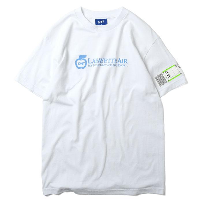 画像1: Airlines S/S Tee 航空会社 ロゴ ニューヨーク Big Apple 飛行機 Biggie Sky's The Limit 半袖 Tシャツ White ホワイト by Lafayette ラファイエット  (1)