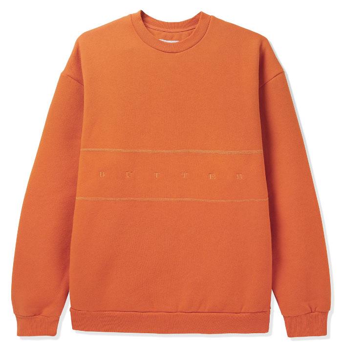 画像1: Hampshire Pigment Crewneck ロゴ スウェット クルーネック プルオーバー Tangarine Orange オレンジ (1)