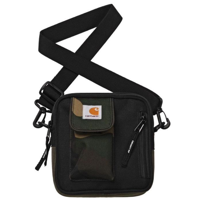 画像1: Essentials Bag Small エッセンシャル ショルダー バッグ Camo Laurel Multi Hamilton Brown Black カモ 切替 ブラック ブラウン (1)