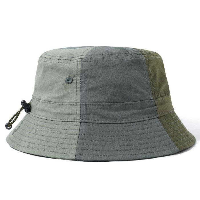 画像1: Patchwork Bucket Hat パッチワーク バケット ハット キャップ 帽子 Army Green アーミー グリーン (1)