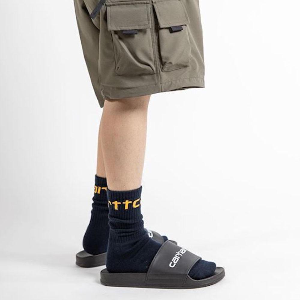 画像1: Slipper Black スリッパ Sandal シャワー サンダル ブラック 黒 (1)