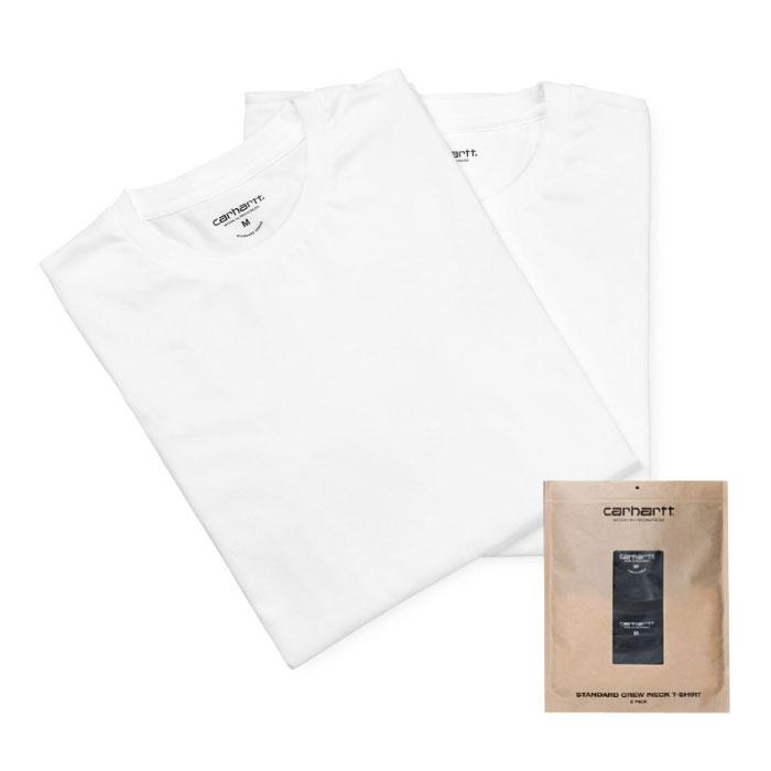 画像1: Standard Crew Neck Tee 2PC Pack 2 パック 半袖 Tシャツ スタンダード クルー ネック 無地 White ホワイト (1)