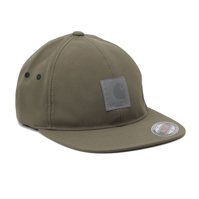 画像1: Elmwood Flexfit Fitted Cap ロゴ フィテッド フレックス フィット キャップ 帽子 Moor Green Black アーミー グリーン ブラック (1)