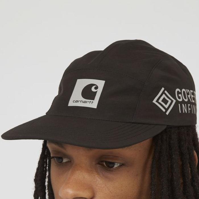 画像1: Gore Tex Infinium Reflect Cap ゴアテックス ナイロン キャップ 帽子 ロゴ リフレクティブ 5パネル Black Moor Green (1)