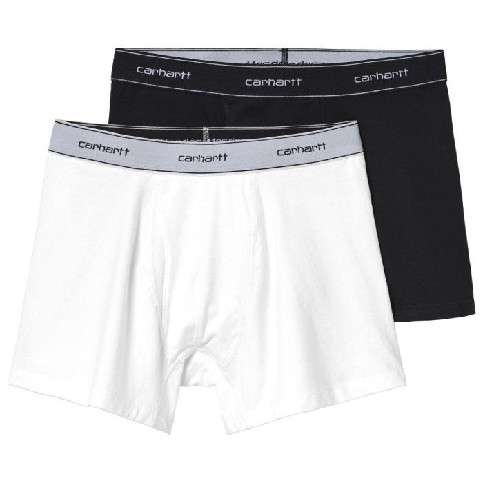 画像1: Cotton Trunks 2PC Pack Boxers コットン ボクサー トランクス パンツ Black + White ブラック ホワイト (1)