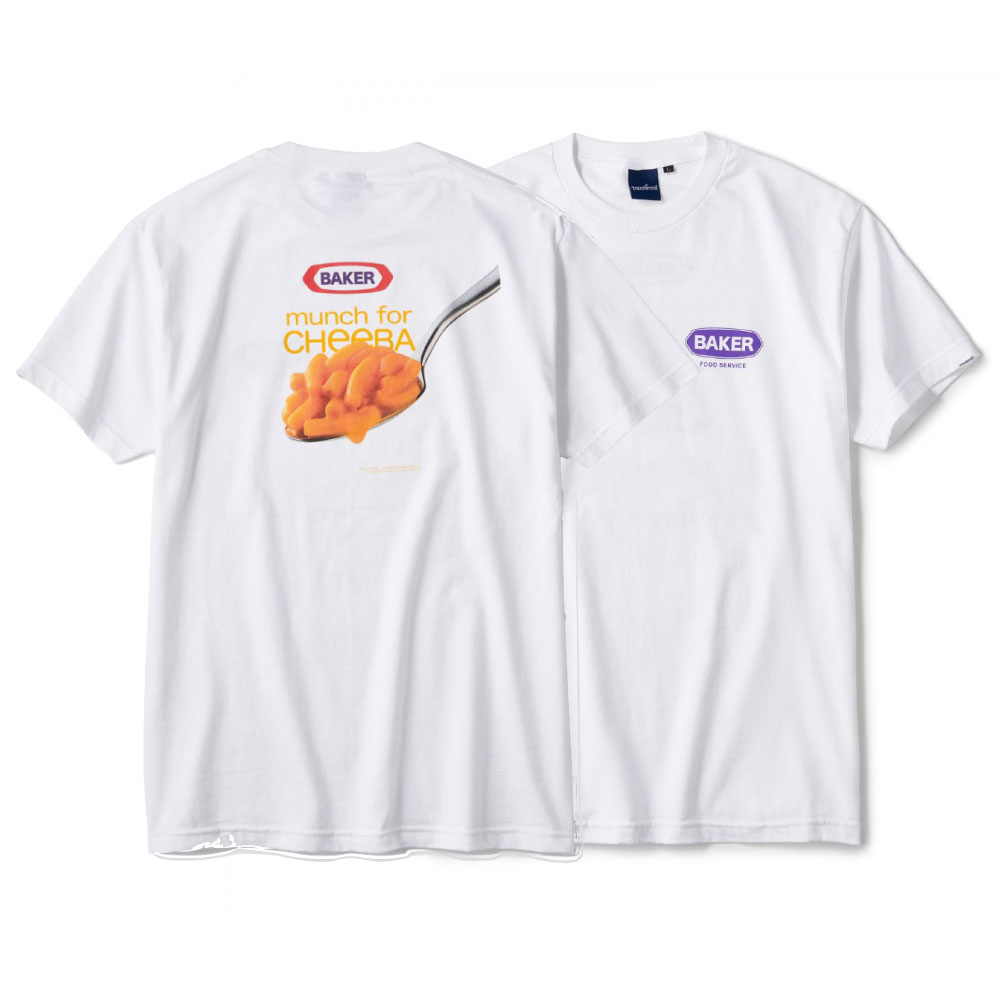 画像1: Mac'n Cheese S/S Tee 半袖 Tシャツ ジャンク フード BAKER Food ジャンク フード マンチ White ホワイト    (1)