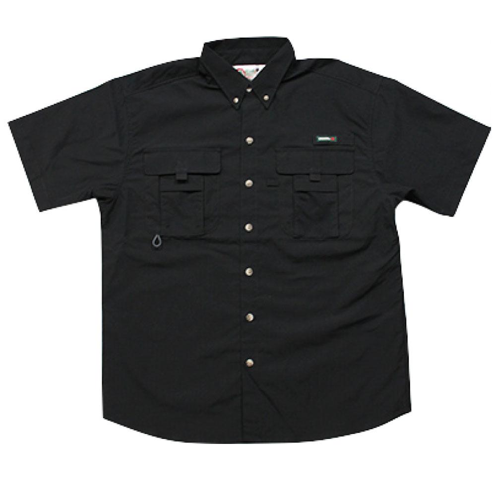 画像1: Ripstop Utility S/S Multi Pocket Shirts Fishing ユーティリティー フィッシング 半袖 シャツ Black ブラック (1)