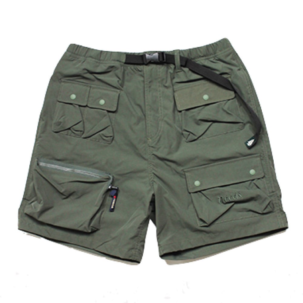 画像1: Ripstop Utility Multi Pocket Shorts ユーティリティー フィッシング Fishing ショーツ ハーフ パンツ Olive Green オリーブ グリーン (1)